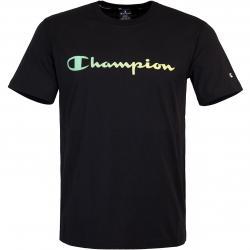 Champion Logo Print T-Shirt schwarz