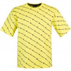 Champion Allover Logo T-Shirt gelb