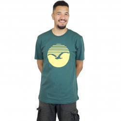 Cleptomanicx T-Shirt Big Sun dunkelgrün