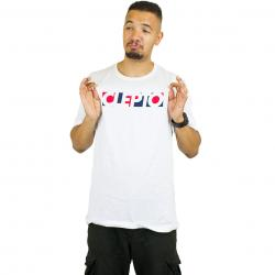 Cleptomanicx T-Shirt Blocks weiß