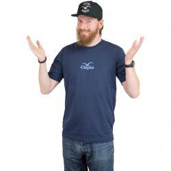 Cleptomanicx T-Shirt C.I. dunkelblau