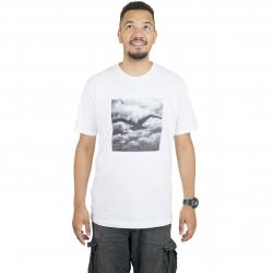 Cleptomanicx T-Shirt Clouds weiß