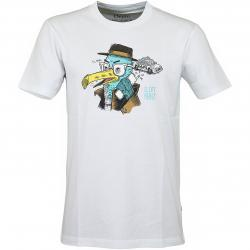 Cleptomanicx T-Shirt Done weiß