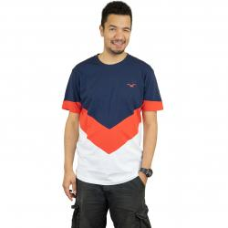Cleptomanicx T-Shirt Downer dunkelblau/orange