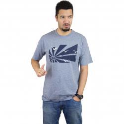 Cleptomanicx T-Shirt Flashback blau