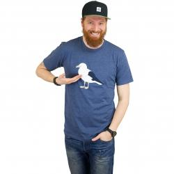 Cleptomanicx T-Shirt Gull 3 blau