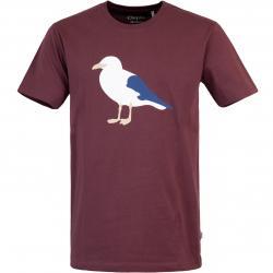 Cleptomanicx Gull Herren T-Shirt wine