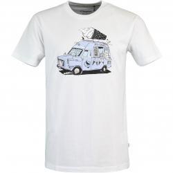 Cleptomanicx Ice Ice Herren T-Shirt weiß