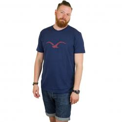 Cleptomanicx T-Shirt Mowe dark navy/m.red