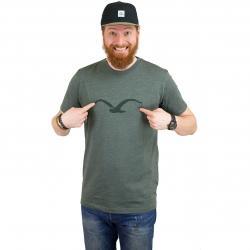 Cleptomanicx T-Shirt Mowe Tonal oliv