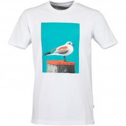 Cleptomanicx T-Shirt Paint Gull weiß/blau