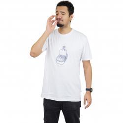Cleptomanicx T-Shirt Paradise weiß
