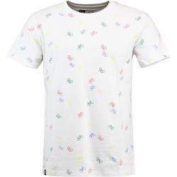 Dedicated T-Shirt Bike Pattern weiß