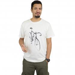 Dedicated T-Shirt Drawn Bike weiß