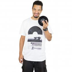Dedicated T-Shirt Playing Record weiß