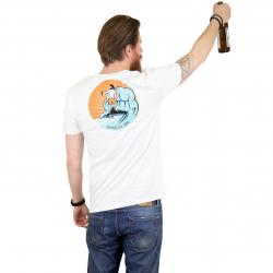 The Dudes T-Shirt Dolphin weiß