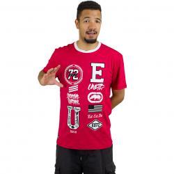Ecko Unltd T-Shirt College Patches rot