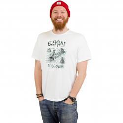 Element T-Shirt Face Off weiß