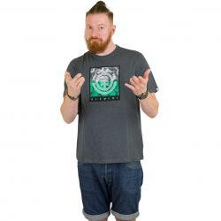Element T-Shirt Log Jam dunkelgrau meliert