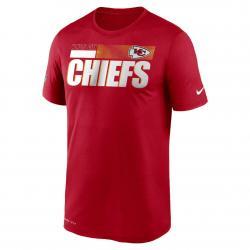 Nike NFL Kansas City Chiefs Team Name Legend T-Shirt rot