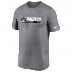 Nike Las Vegas Raiders Team ConferencT-Shirt grau