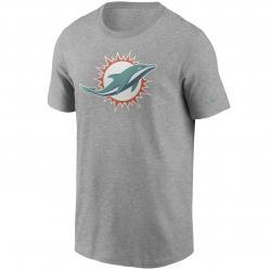Nike NFL Miami Dolphins Logo Essential T-Shirt grau