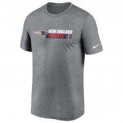 Nike NFL New England Patriots Team Conference T-Shirt grau