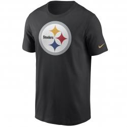 Nike NFL Pittsburgh Steelers Logo Essential T-Shirt schwarz