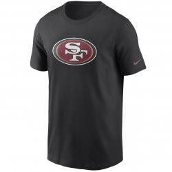 Nike NFL San Francisco 49ers Logo Essential T-Shirt schwarz