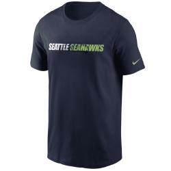 Nike Seattle Seahwks Tonal Logo T-Shirt blau