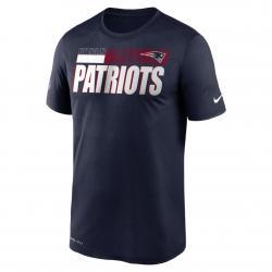 Nike NFL New England Patriots Team Name Legend T-Shirt blau