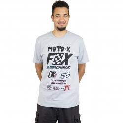 Fox Head T-Shirt Czar steel grau