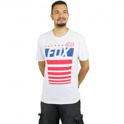 Fox T-Shirt Red White & True weiß