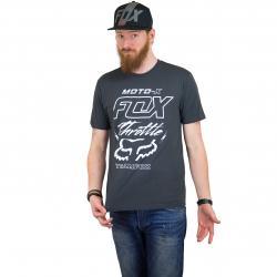 Fox T-Shirt Throttled schwarz vintage