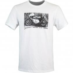 Fox Yoshimura Racer Profile Herren T-Shirt weiß