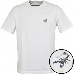 Globe T-Shirt Hard Times weiß