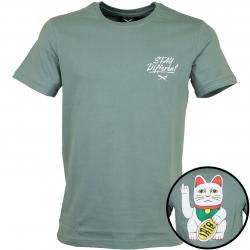 Iriedaily T-Shirt Bye Bye Cat beryl grey