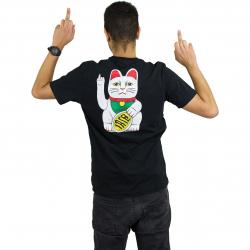 Iriedaily T-Shirt Bye Bye Cat schwarz