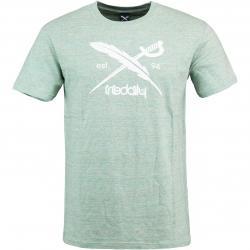 Iriedaily T-Shirt Chamisso Logo hellgrün
