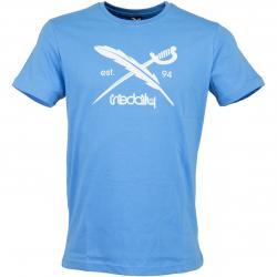 Iriedaily T-Shirt Daily Flag hellblau
