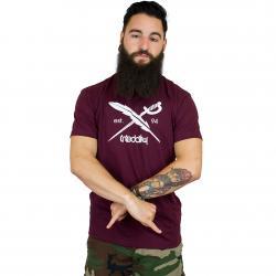 Iriedaily Daily Flag T-Shirt maroon melange