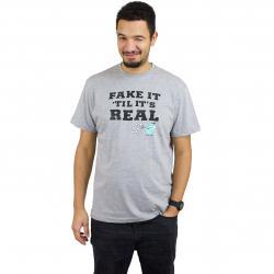 Iriedaily T-Shirt Fake It grau