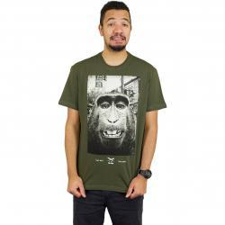 Iriedaily T-Shirt Monkey Takeover oliv