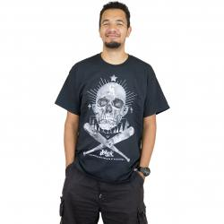 Joker Brand T-Shirt Skull Clown schwarz
