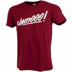 Männersport T-Shirt Namooo! bordeaux/weiß