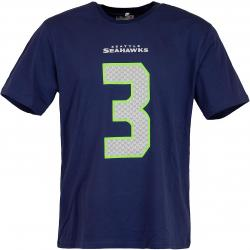 Majestic T-Shirt NFL N&N Seahawks Wilson blau