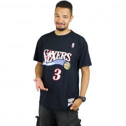 Mitchell & Ness T-Shirt A.Iverson Philadelphia 76 schwarz