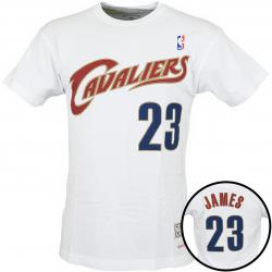 Mitchell & Ness T-Shirt Cleveland Cavaliers James weiß