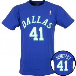 Mitchell & Ness T-Shirt Dallas Mavericks Nowitzki blau