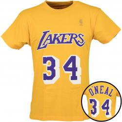 Mitchell & NessT-Shirt Los Angeles Lakers S. O`Neal gelb